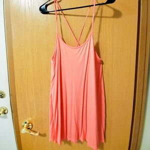 Hot bright pink h&m dress.